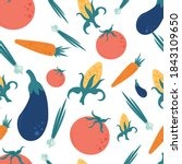 seamless pattern of large... | Shutterstock .eps vector #1843109650
