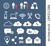communication icons | Shutterstock .eps vector #184311386