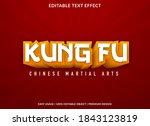 kung fu text effect template... | Shutterstock .eps vector #1843123819