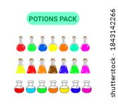 set potions for asset game 2d... | Shutterstock .eps vector #1843142266