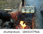 vegetables are grilled in the... | Shutterstock . vector #1843147966