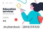 online education modern flat... | Shutterstock .eps vector #1843155520