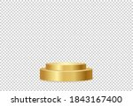 gold  podium or  showcase to... | Shutterstock .eps vector #1843167400