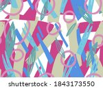 geometric vector pattern with... | Shutterstock .eps vector #1843173550
