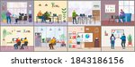 set of office staff images.... | Shutterstock .eps vector #1843186156