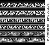 set of black and white paisley  ... | Shutterstock .eps vector #1843201606