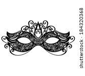 beautiful masquerade mask ...   Shutterstock . vector #184320368