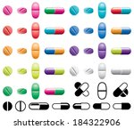 vector colorful collection of... | Shutterstock .eps vector #184322906
