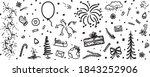 holiday background. hand drawn... | Shutterstock . vector #1843252906