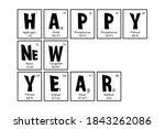 periodic table christmas and... | Shutterstock .eps vector #1843262086