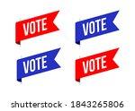 vote flag sticker  president ... | Shutterstock .eps vector #1843265806