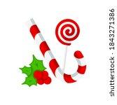 vector graphic illustration on... | Shutterstock .eps vector #1843271386