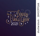 Happy New Year 2021 Vector...