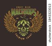 craft beer vintage colorful... | Shutterstock .eps vector #1843323013