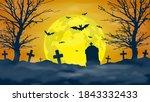 halloween night background.... | Shutterstock .eps vector #1843332433