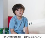 Dramatic Portrait Tired Kid...