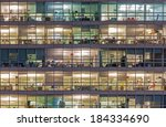 vienna   offices at night | Shutterstock . vector #184334690