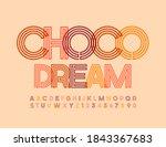 vector creative banner choco... | Shutterstock .eps vector #1843367683