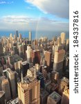 Chicago Downtown Aerial View A...