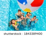 Many Kids In Swimming Pool Play ...