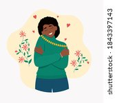 love yourself. young african...   Shutterstock .eps vector #1843397143