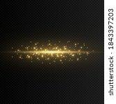 a flat magical flash of light.... | Shutterstock .eps vector #1843397203