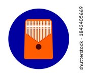 thumb piano kalimba 17 keys.... | Shutterstock .eps vector #1843405669