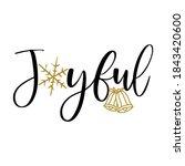 joyful   greeting card text  ...   Shutterstock .eps vector #1843420600