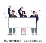 students in school uniforms are ...   Shutterstock .eps vector #1843425730