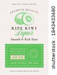 family recipe kiwi liquor...   Shutterstock .eps vector #1843433680