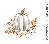 Watercolor Fall Pumpkin...