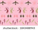 african musician flute player...   Shutterstock .eps vector #1843488943