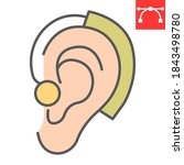 hearing aid color line icon ...   Shutterstock .eps vector #1843498780