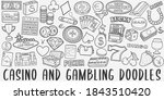cansino and gambling doodle... | Shutterstock .eps vector #1843510420