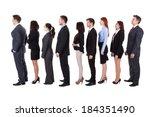 business people standing in...   Shutterstock . vector #184351490