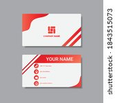 corporate business card... | Shutterstock .eps vector #1843515073