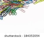 Colored Paper Clips With Space...