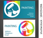 design business cards for... | Shutterstock .eps vector #184354286