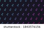 set of colored zigzags on a...