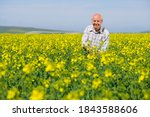 Smiling Old Aged Farmer In His...