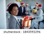 Happy Black Businesswoman...