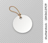tag with rope isolated on... | Shutterstock .eps vector #1843613929