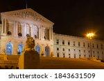 Side View Of Lisbon Parliament...