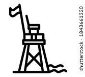 Rescue Beach Tower Icon....