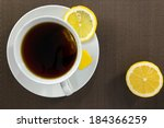 Aerial View Of Tea Cup And...