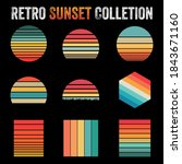 vintage and retro sunset...   Shutterstock .eps vector #1843671160