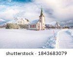 Splendid Snowy Winter Scene Of  ...
