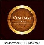 vintage background | Shutterstock .eps vector #184369250