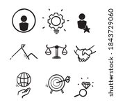 hand drawn doodle icon symbol...   Shutterstock .eps vector #1843729060
