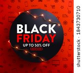 black friday sale 50  off... | Shutterstock .eps vector #1843730710